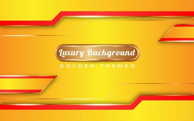 Luxe volledig gele gradiëntachtergrond met gouden thema speciaal gelukkig nieuwjaar