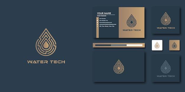 Luxe waterlogo. luxe abstract voor logo en visitekaartjeontwerp
