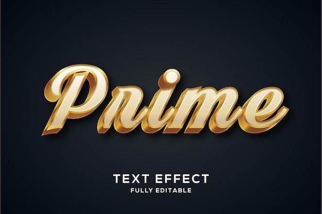 Luxe wit en goud tekststijleffect