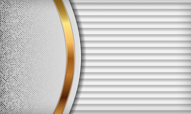 Luxe witte abstracte achtergrond met overlappende lagen.