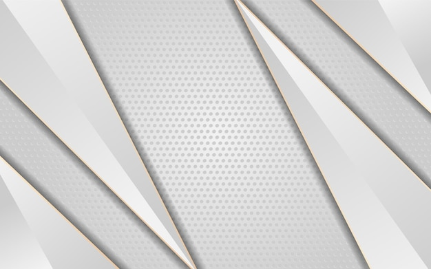 Luxe witte achtergrond met pijl witte lijn goud