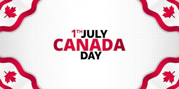 Luxe witte canadese dag achtergrond. ontwerp voor banners, achtergronden, posters of kaarten.
