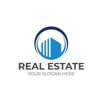 Luxe zakelijk onroerend goed logo ontwerp vector tempel