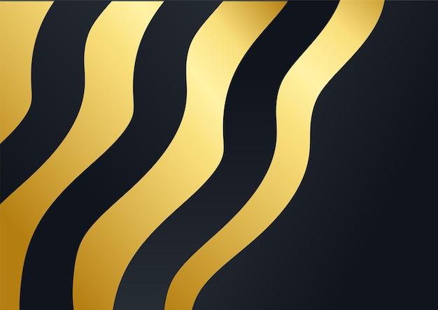 Luxe zakelijke achtergrond, abstracte decoratie, gouden patroon, halftone verlopen, 3d-vectorillustratie. zwart goud voorbladsjabloon, geometrische vormen, moderne minimale zakelijke banner
