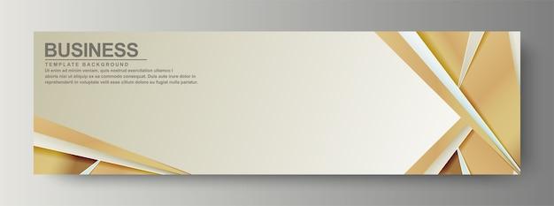 Luxe zakelijke banner met golf achtergrond