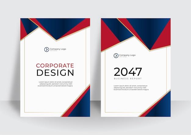 Luxe zakelijke omslagontwerpsjabloon. corporate jaarverslag of modern presentatieconcept
