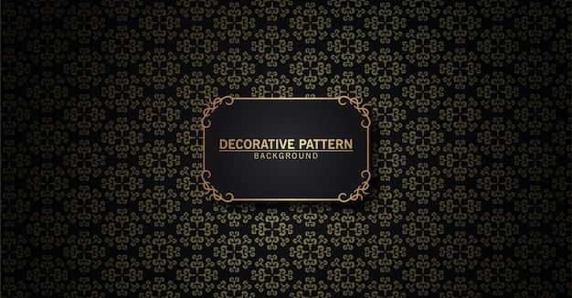 Luxe zwart en goud abstract patroon