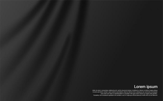 Luxe zwart gordijn achtergrond