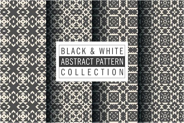Luxe zwart-wit patroon in mozaïekstijl