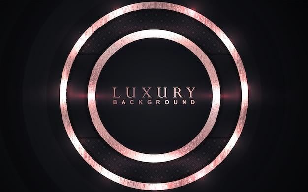 Luxe zwarte achtergrond met gouden elementendecoratie