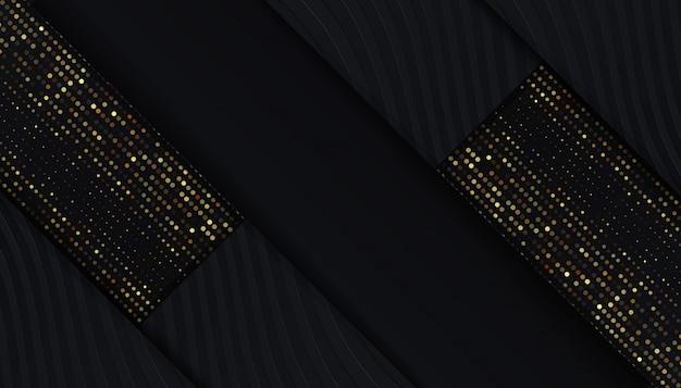 Luxe zwarte achtergrond met gouden glitter-stippen