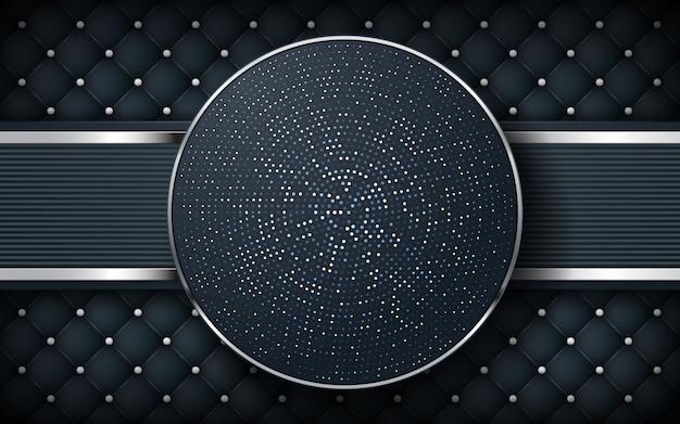Luxe zwarte achtergrond met textuur en cirkel