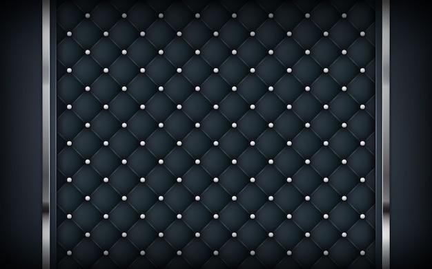 Luxe zwarte achtergrond met textuur en zilveren lijst