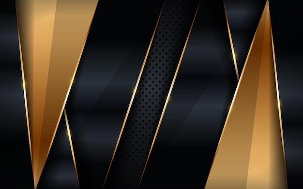 Luxe zwarte en gouden achtergrond