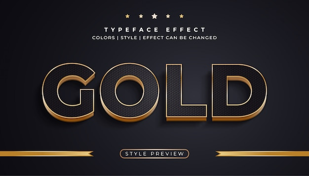 Luxe zwarte en gouden tekst met effecten