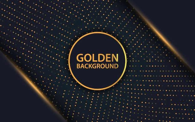 Luxe zwarte overlaplaag en gouden glittersachtergrond