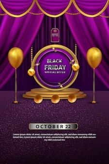 Luxe zwarte vrijdag verkoop roze alle kortingsprijzen tot poster