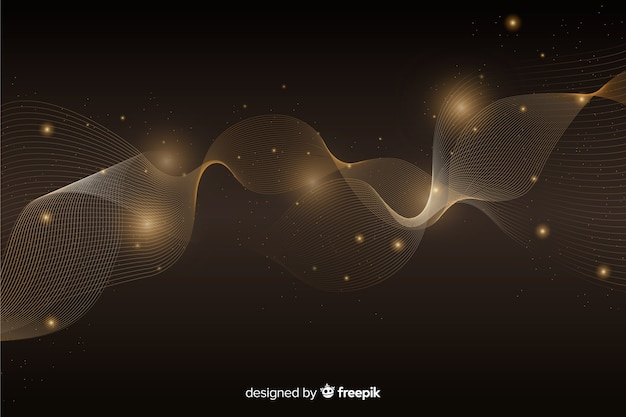 Luxeachtergrond met abstracte gouden golf