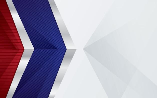 Luxeachtergrond met zilveren grens en rode blauwe kleuren