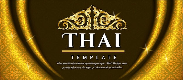 Luxeachtergrond, thais traditioneel concept.