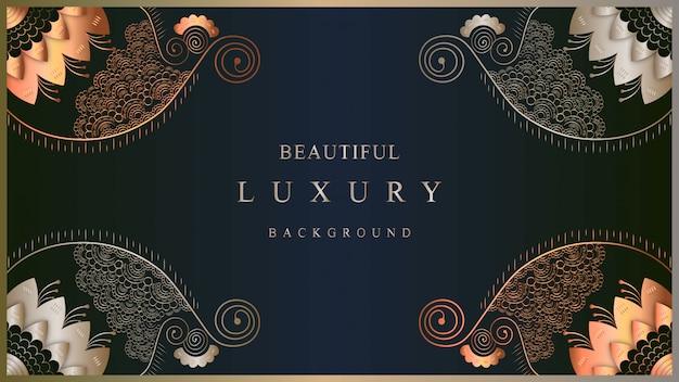 Luxekunst met van de achtergrond luxekleur het oostenstijl