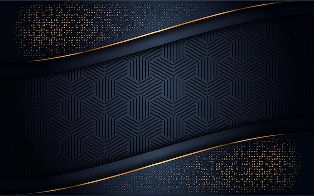 Luxueuze donkere achtergrond met gouden glitter