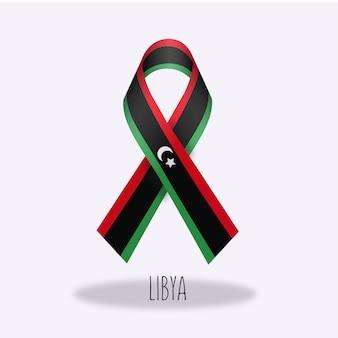 Lybia vlag lint ontwerp