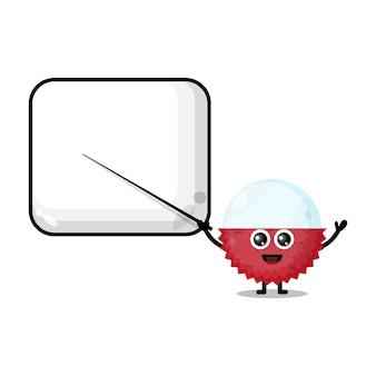 Lychee wordt een schattige mascotte van een leraar