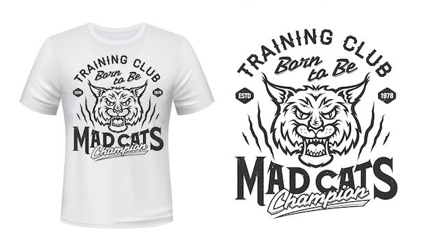 Lynx mascotte voor t-shirt print