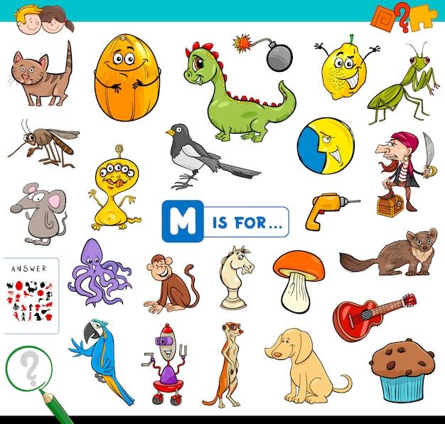 M is voor educatief spel voor kinderen