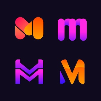M logo design collectie