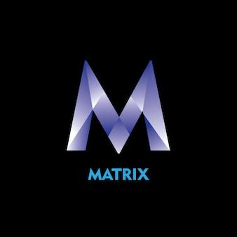 M matrix logo template design