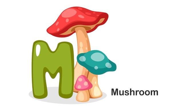 M voor mushroom