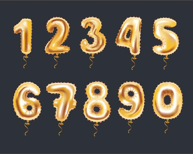 M123 gouden cijferalfabet