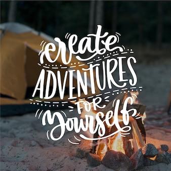 Maak avonturen voor jezelf belettering