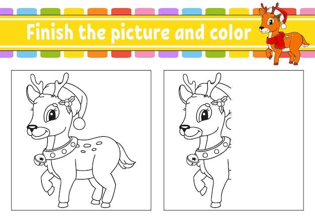 Maak de foto en de kleurenillustratie af