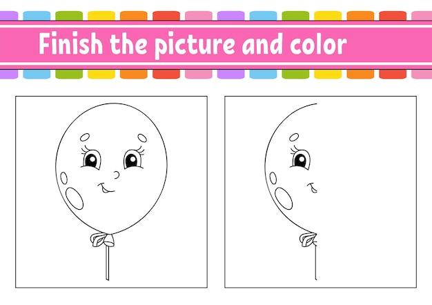 Maak de foto en kleur af!