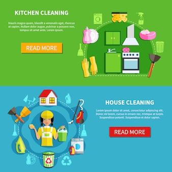Maak de huisbanners schoon