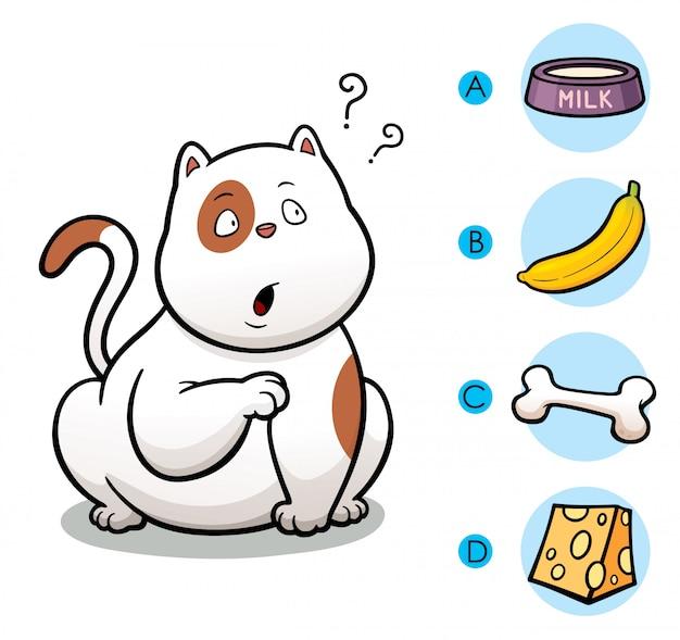 Maak de juiste keuze om dieren met hun voedsel te verbinden