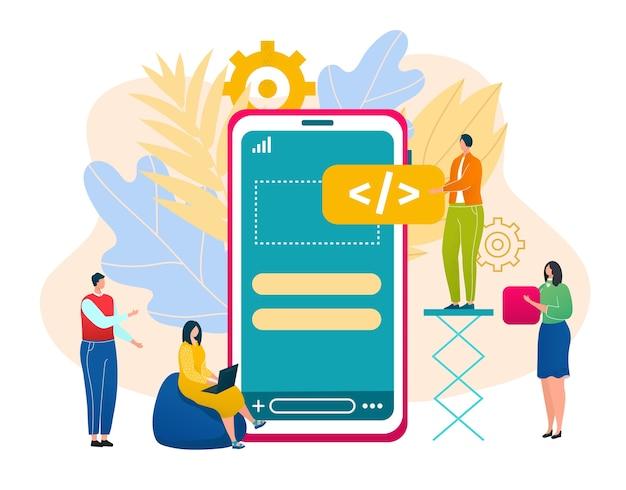 Maak een app-interface concept illustratie