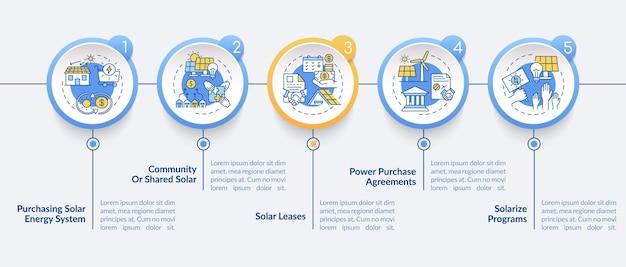 Maak een elektriciteits infographic-sjabloon