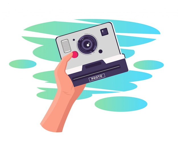 Maak een foto, camera-illustratie