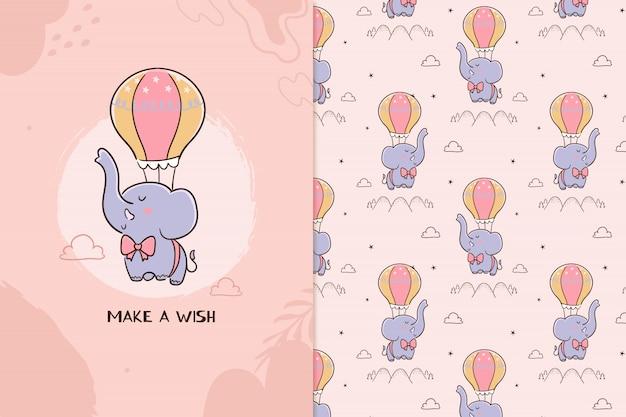 Maak een wens olifant patroon