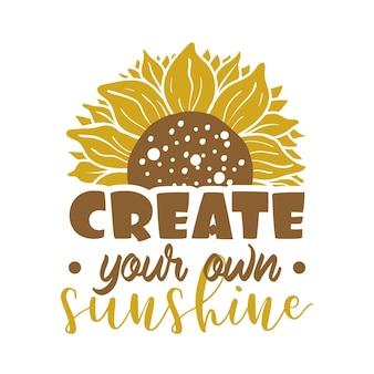 Maak je eigen zonne-citaat belettering illustratie