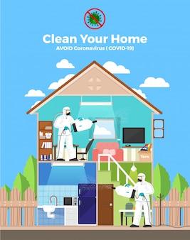Maak je huis schoon