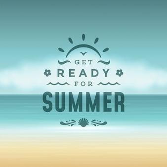 Maak je klaar voor de zomer, belettering