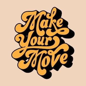 Maak je zet typografie stijl illustratie