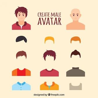 Maak male avatar