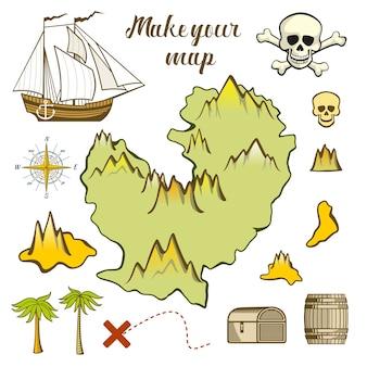 Maak uw kaart van het eiland