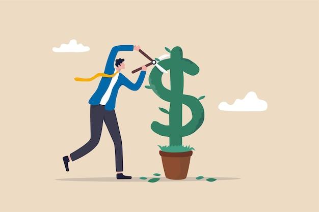 Maak winst met het concept van het verdienen van geld